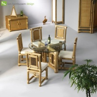 Highlight for Album: Bambootables - Dining tables made of bamboo