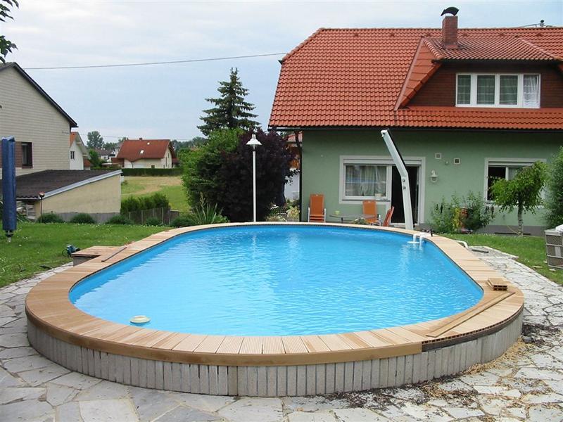 Terrassendielen pooldielen poolumrandung gartenzaun - Poolumrandung rund ...