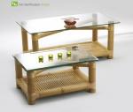 Titelbild des Albums: Bambustisch COLORADO Speisetisch oder Kaffeetisch Ein Bambusbeistelltisch mit jugendlichem Design