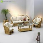 Titelbild des Albums: Bambusgarnitur  SUMERA Bambusset-Bambussofa-Bambusbank